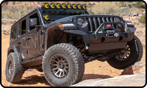 ICON Impact Series Jeep JL Wrangler Front Bumper